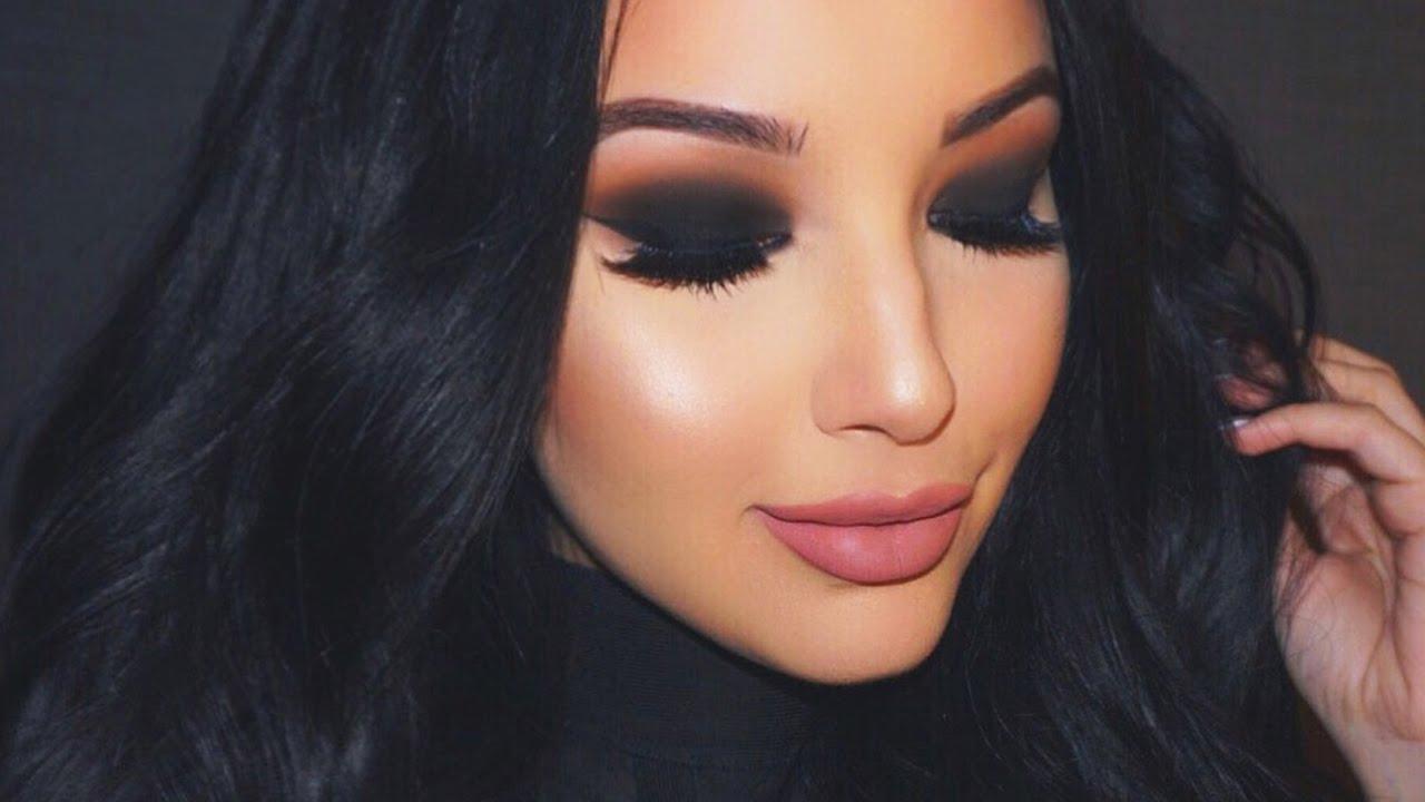 Valentine's Black Smokey Eye Makeup Tutorial ♡