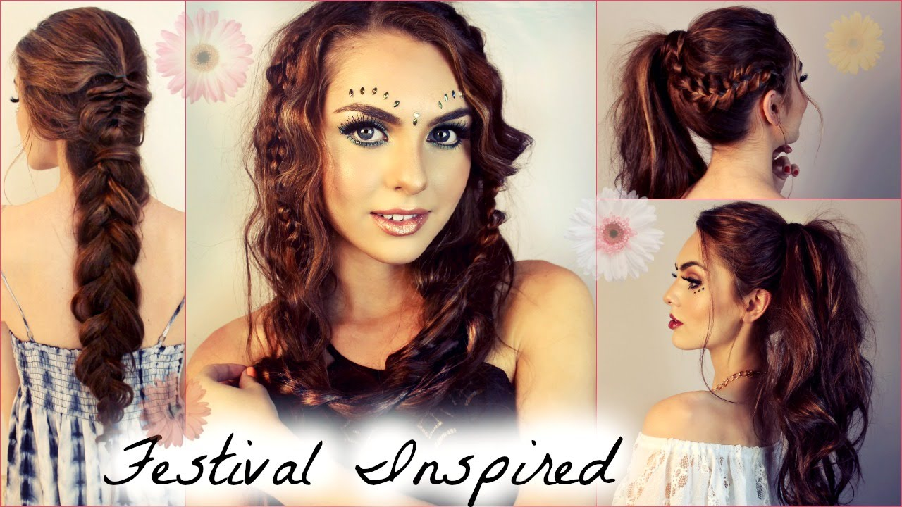 Music Festival Hairstyles for Long Hair | Beachy Waves, Braids & Ponytails – Jackie Wyers