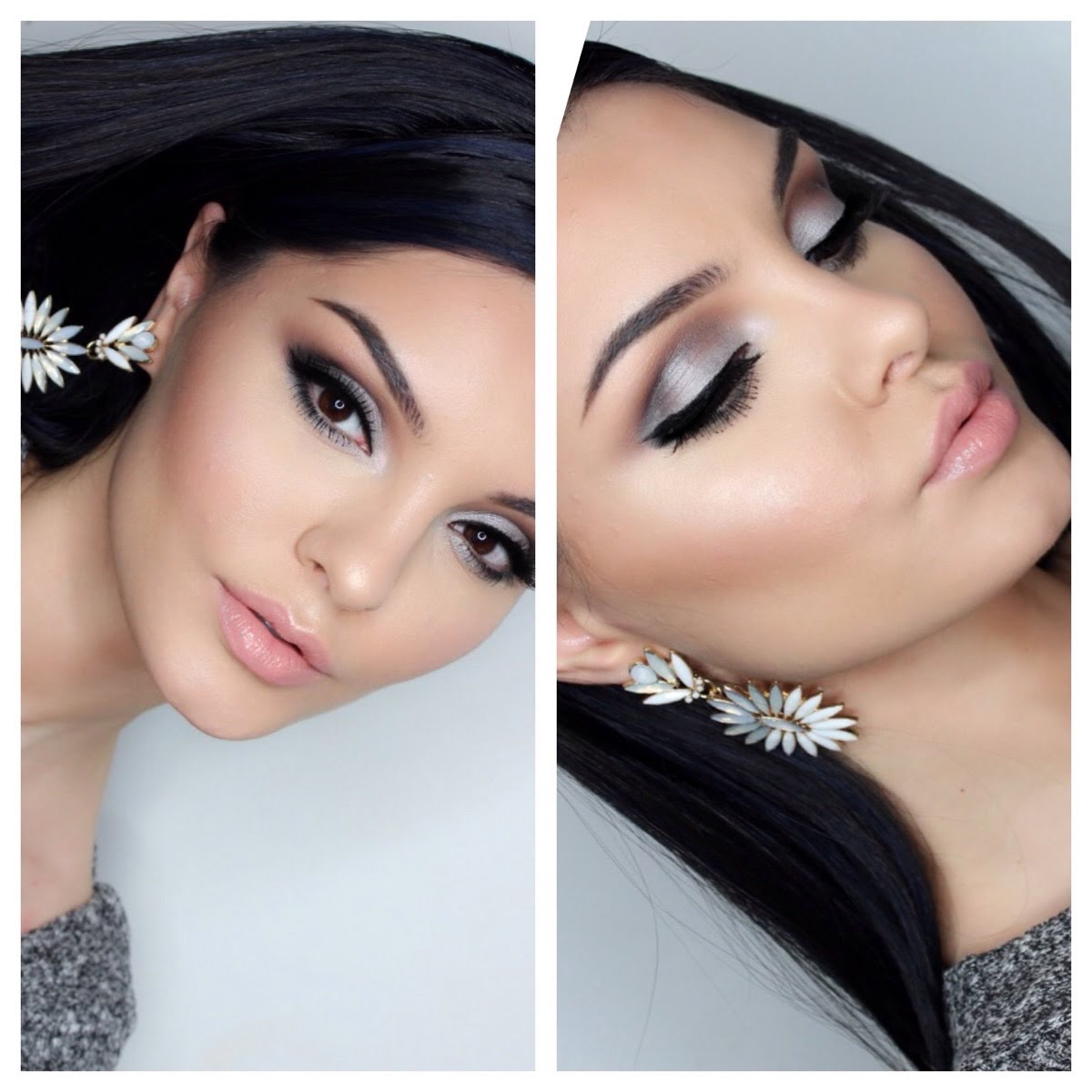 Silver Eyeshadow Makeup tutorial