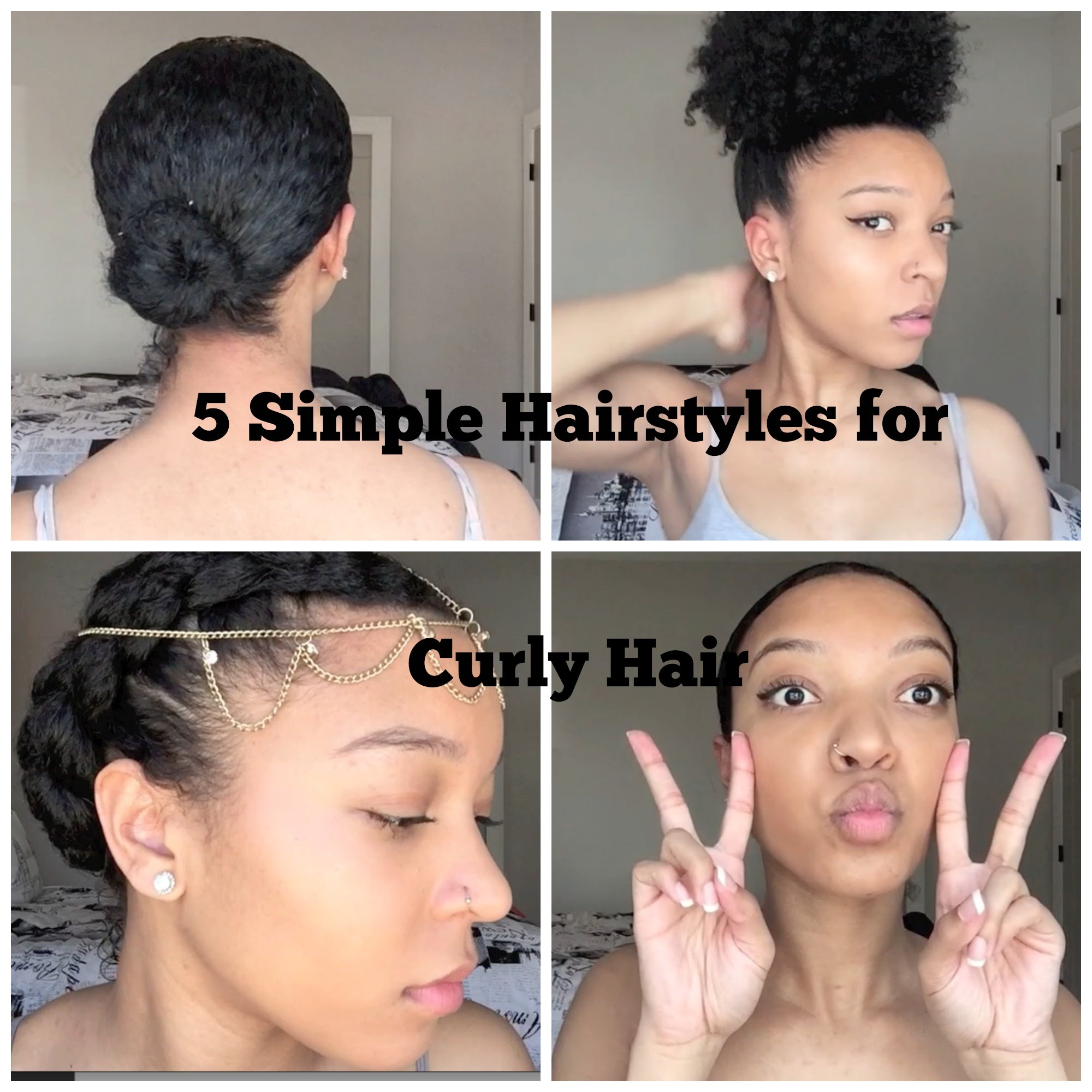 5 Simple Hairstyles for Curly Hair