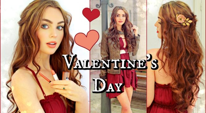 Valentine's Day Inspiration! Makeup, Hair & Outfits💋 GRWM
