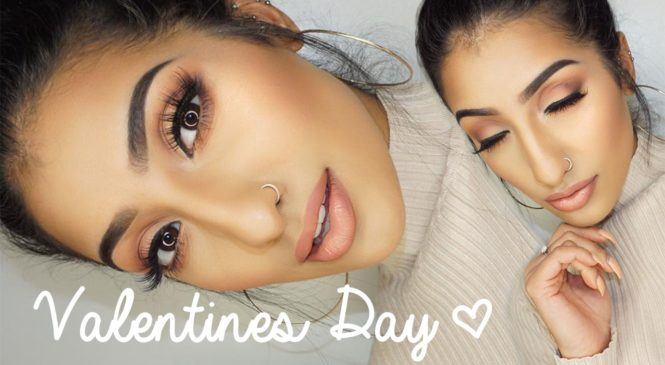 Valentines Day / Date Night Soft Peach Makeup Tutorial