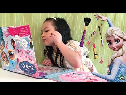 FROZEN MAKE-UP Artist Book | Elsa Make Up Tutorial for Kids | Make Up Toy Set