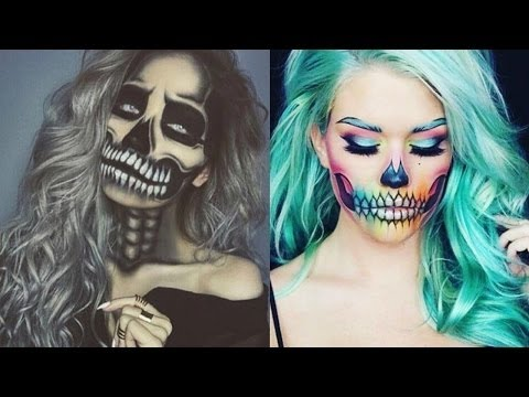 Top 10 Easy Halloween Makeup Tutorials Compilation 2016