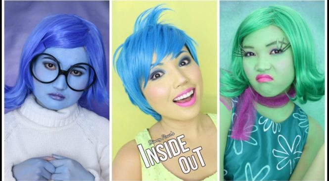'INSIDE OUT' Makeup Tutorial (Disgust,Sadness,Joy,Anger & Fear)