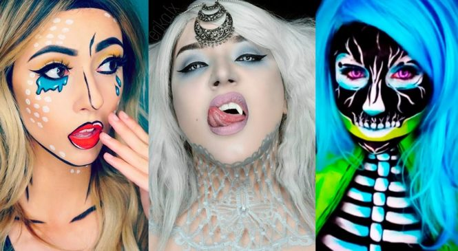 Top 17 DIY Halloween Makeup Tutorials Compilation 2016