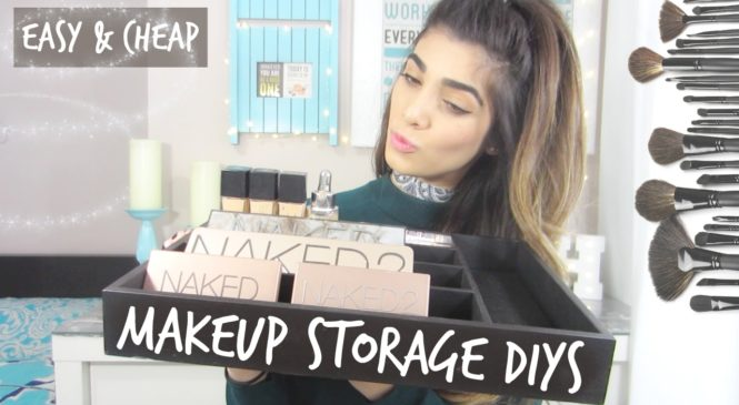 DIY Makeup Storage and Organization Ideas   Under $5