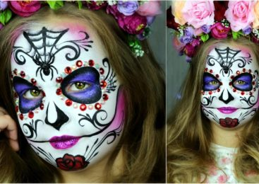 Sugar Skull Makeup for Kids — 🎃 Halloween Face Painting