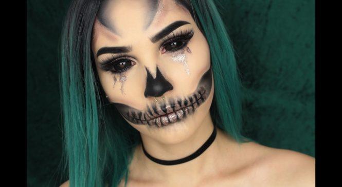 GLAM GLITTER SKULL   Halloween Makeup Tutorial