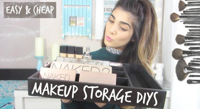 DIY Makeup Storage and Organization Ideas | Under $5