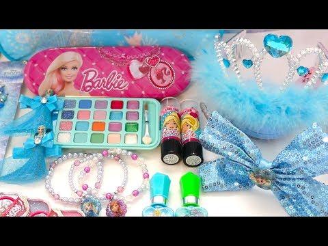 Barbie Frozen Deluxe Makeup Cosmetic Set Frozen Accessories Glitter Lip Gloss