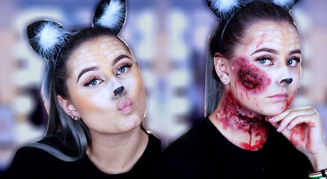 Snapchat Deer Halloween Makeup & Zombie Deer :: Partyking.no