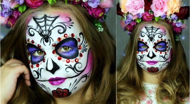 Sugar Skull Makeup for Kids — 🎃 Halloween Face Painting