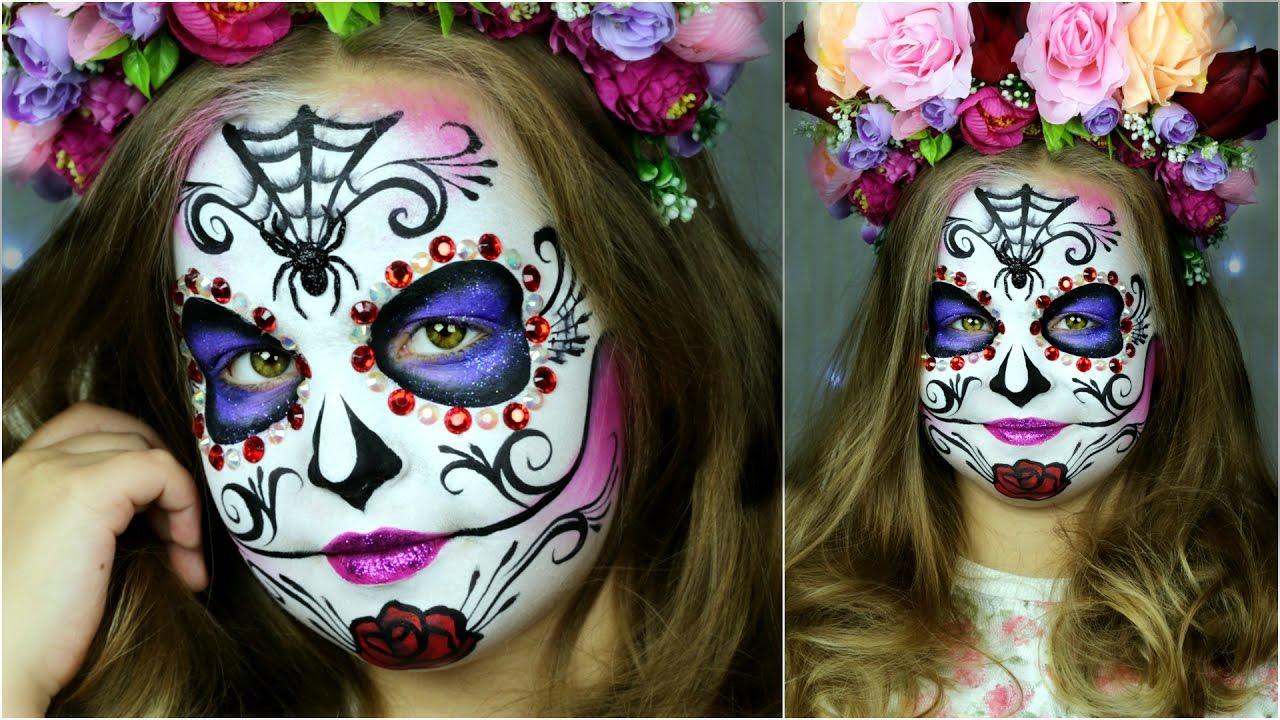 Sugar Skull Makeup for Kids — ? Halloween Face Painting